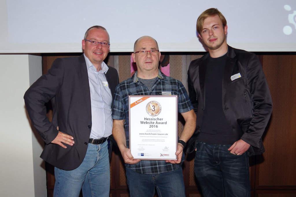 Freuen sich über den dritten Platz beim Hessischen Website-Award: Thomas Kurt und Wlad